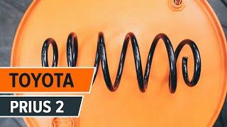 Montáž zadní a přední Brzdovy kotouc TOYOTA PRIUS Hatchback (NHW20_): video zdarma
