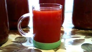 Томатный сок .  Рецепт вкуснейшего томатного сока