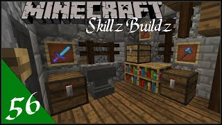 Interior Armory Design - Skillz Buildz | Single Player Vanilla Survival Minecraft 1.9 :: Ep56