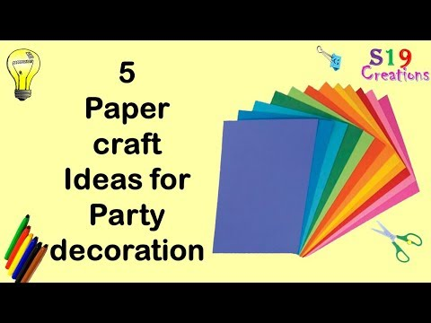 5 paper decor crafts | Easy diy paper craft ideas for party | Budget decor ideas | wall decor idea