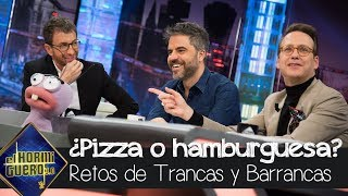 ¿Pizza o hamburgesa? Ernesto Sevilla y Joaquín Reyes en el juego de las hormigas - El Hormiguero 3.0