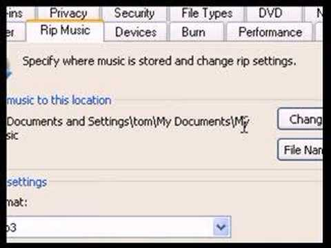 cd to mp3 with windows media player