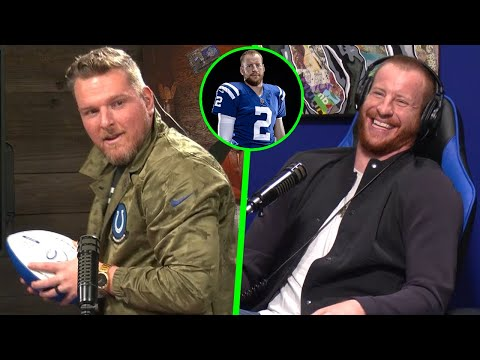 Pat McAfee & Carson Wentz Talk Face To Face For The First Ti