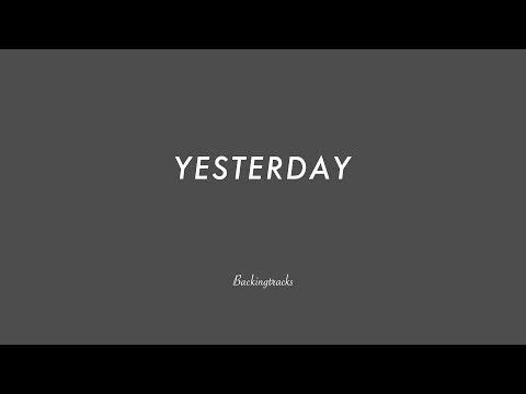 Yesterday (The Beatles) - Jazz Backing Track Play Along The Real Book