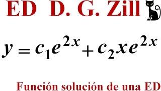 Probar que una función es solución de una ED. Zill 1.1_23