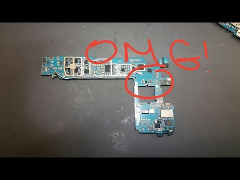 Samsung Galaxy S7 Edge Water Damage Repair with Battery FPC Burned away
