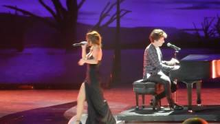 Selena brings special guest charlie puth as live at honda center. sorry for all the shaking i was so excited but enjoy :) https://twitter.com/d...