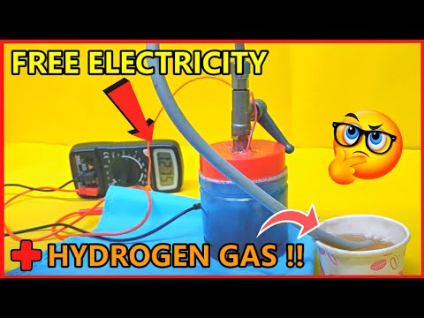 New Hydrogen Gas + Electricity Generator Fuel Cell (Prototype)