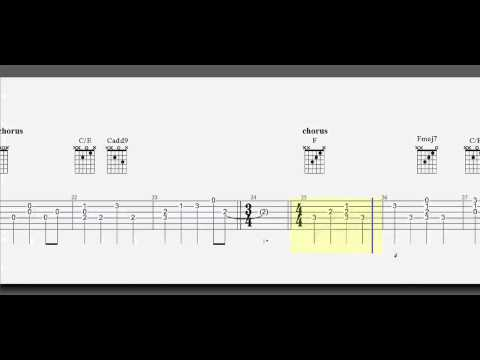 Guitar Tab   Safe and Sound   Simplified and Slower   Fingerstyle or pick