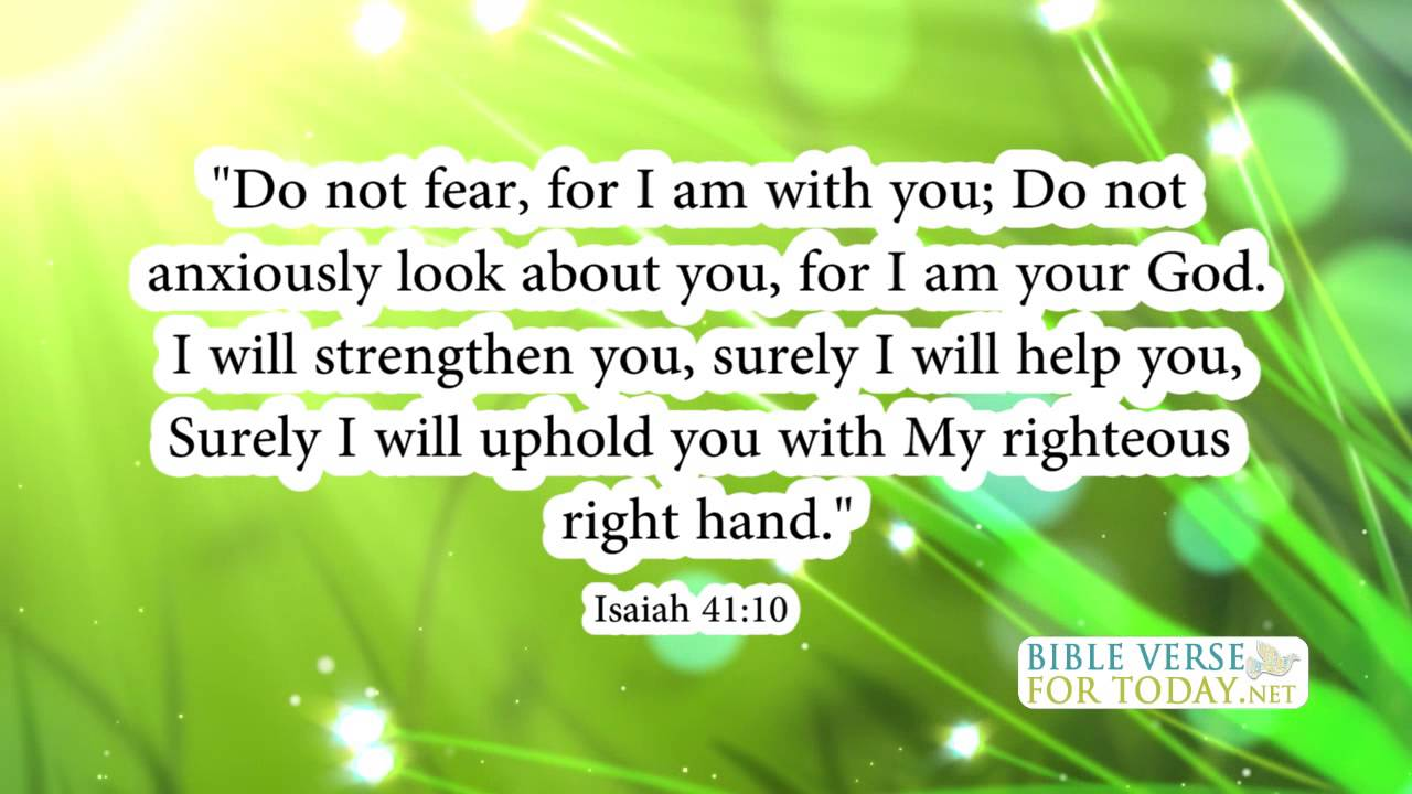 Healing Love Quotes Bible Verses About Healing Isaiah 4110  Bible Verses  Daily