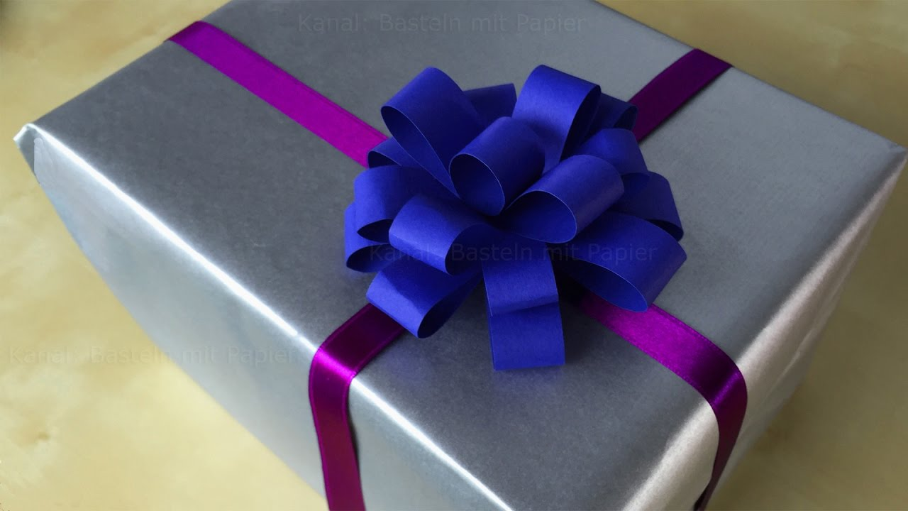 Geschenkschleife Basteln Mit Papier Fur Geschenke Diy Schleife Zum