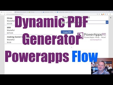 PowerApps PDF From Table Data