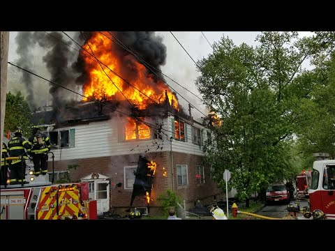 Belleville NJ FD Residenital Fire (Major Fire Part) Courtland St 5-14-18