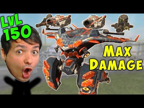 MAX DAMAGE TITAN - Level 150 AO MING Gameplay War Robots 5.6 WR