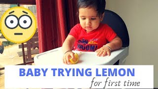 Baby trying Lemon for first time | Khushank Rajguru
