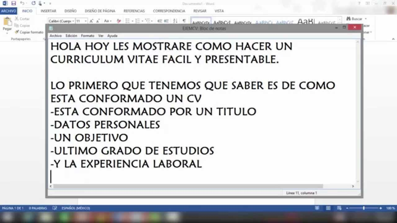 Como hacer un curriculum vitae facil y presentable youtube - Como construir un altillo ...