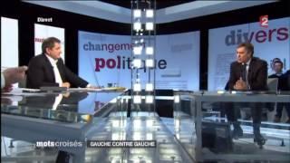 Jean-Luc Mélenchon / Jérôme Cahuzac - Mots croisés 07-01-2013