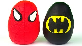 Opening Play-doh Spider-Man, Superman and Batman Surprises