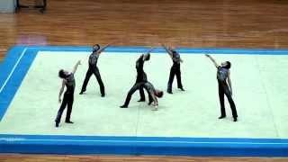 2015近畿総体 大阪市中央体育館 男子新体操 団体5位 得点:18.675.