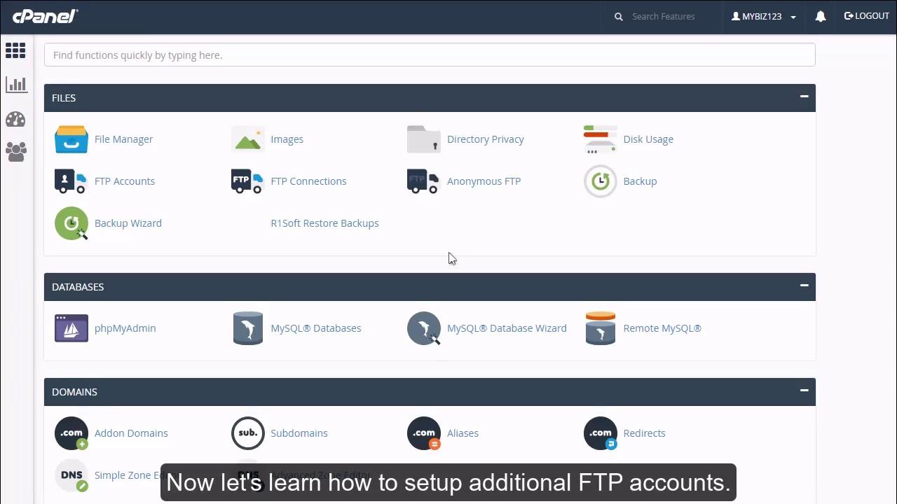 cPanel-də əlavə FTP hesabları necə yaratmaq olar?