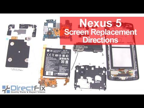 Nexus 5 Screen Replacement Directions - YouTube