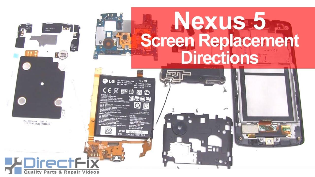 Nexus 5 Screen Replacement Directions
