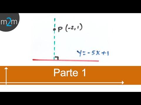 * Ec. de recta que pasa por un punto y es perpendicular a una recta - PARTE 1
