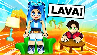 Were STRANDED By LAVA In Roblox