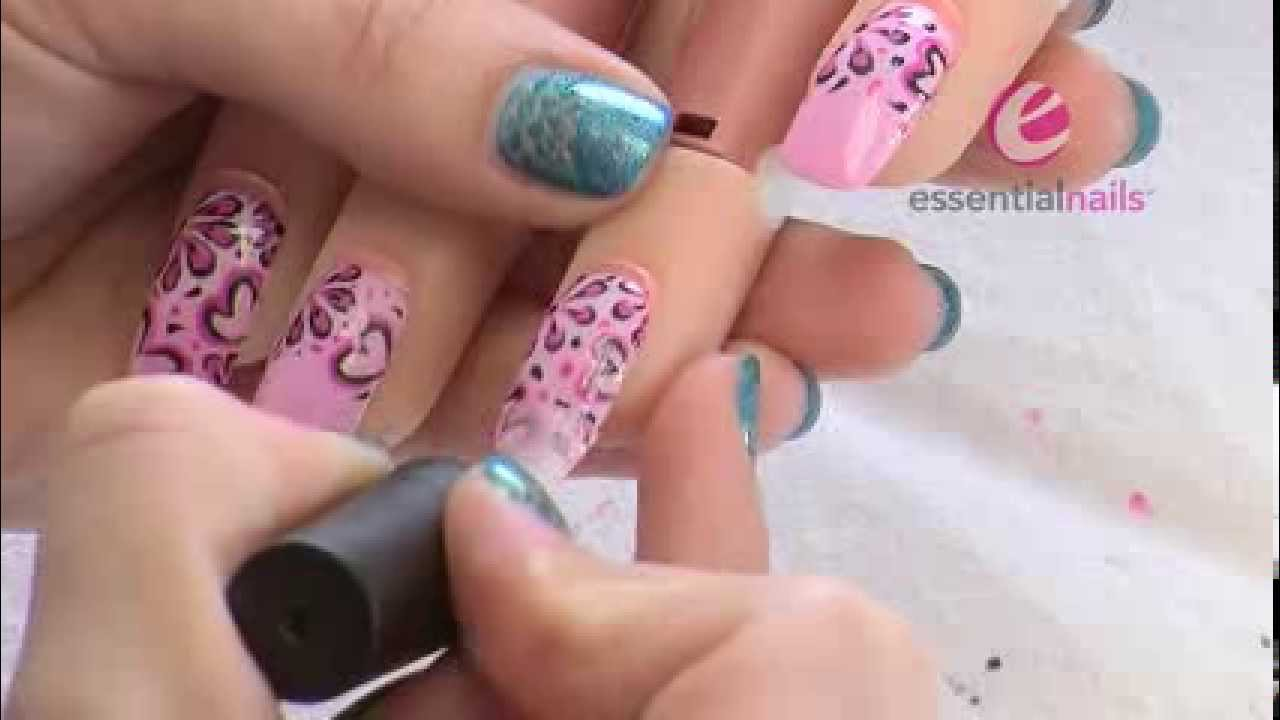 Becca Walton Hearts Flowers Uv Gel Polish Nail Art Design