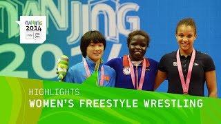 Grace Bullem Wins Women's Freestyle Wrestling Gold - Highlights | Nanjing 2014 Youth Olympic Games