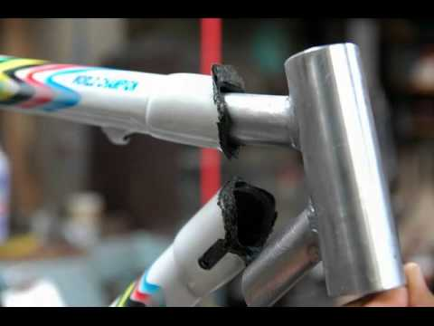 COLNAGO C40 Freme repair - YouTube