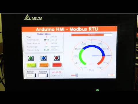 arduino wiring diagram volvo penta dynastart modbus rtu - control hmi via rs485 youtube