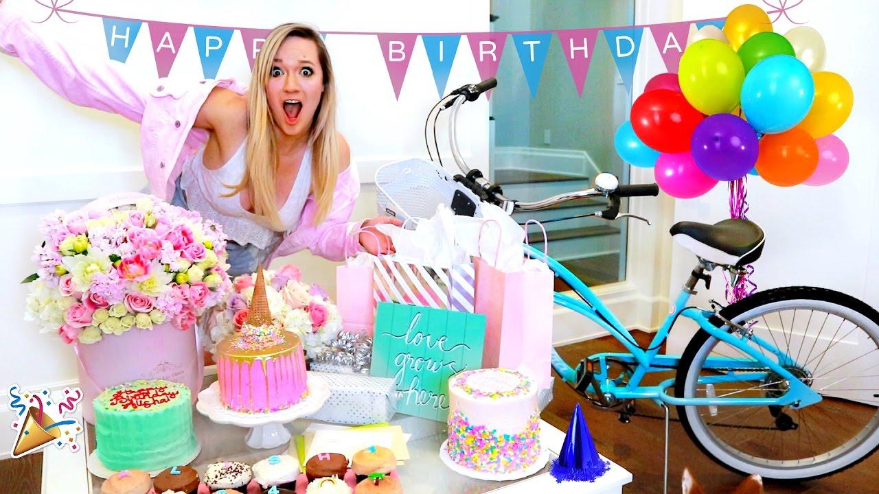 ALISHA MARIE'S BIRTHDAY VLOG!! OPENING PRESENTS!! - YouTube