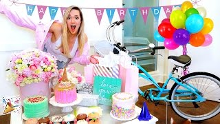 ALISHA MARIE'S BIRTHDAY VLOG!! OPENING PRESENTS!!