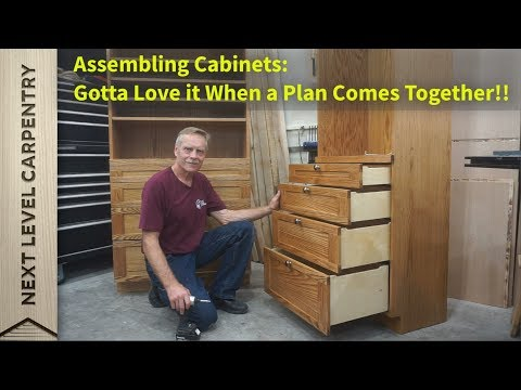 Cabinet Assembly:  When a Plan Comes Together!
