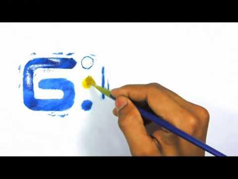 Peinture logo - Golden Media Maroc - Agence Communication Maroc