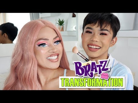 14 Years Old Kid Does my Bratz Makeup