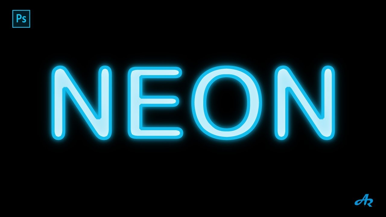 how to make text look like neon lights in photoshop