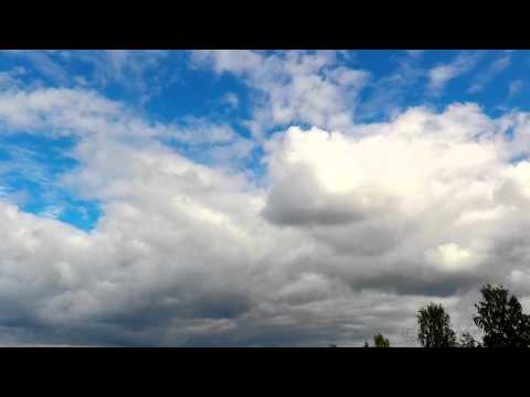 2 HOURS ❀ Sound Therapy -  Clouds on Blue Sky & Autumn breeze (full HD Time Lapse video)