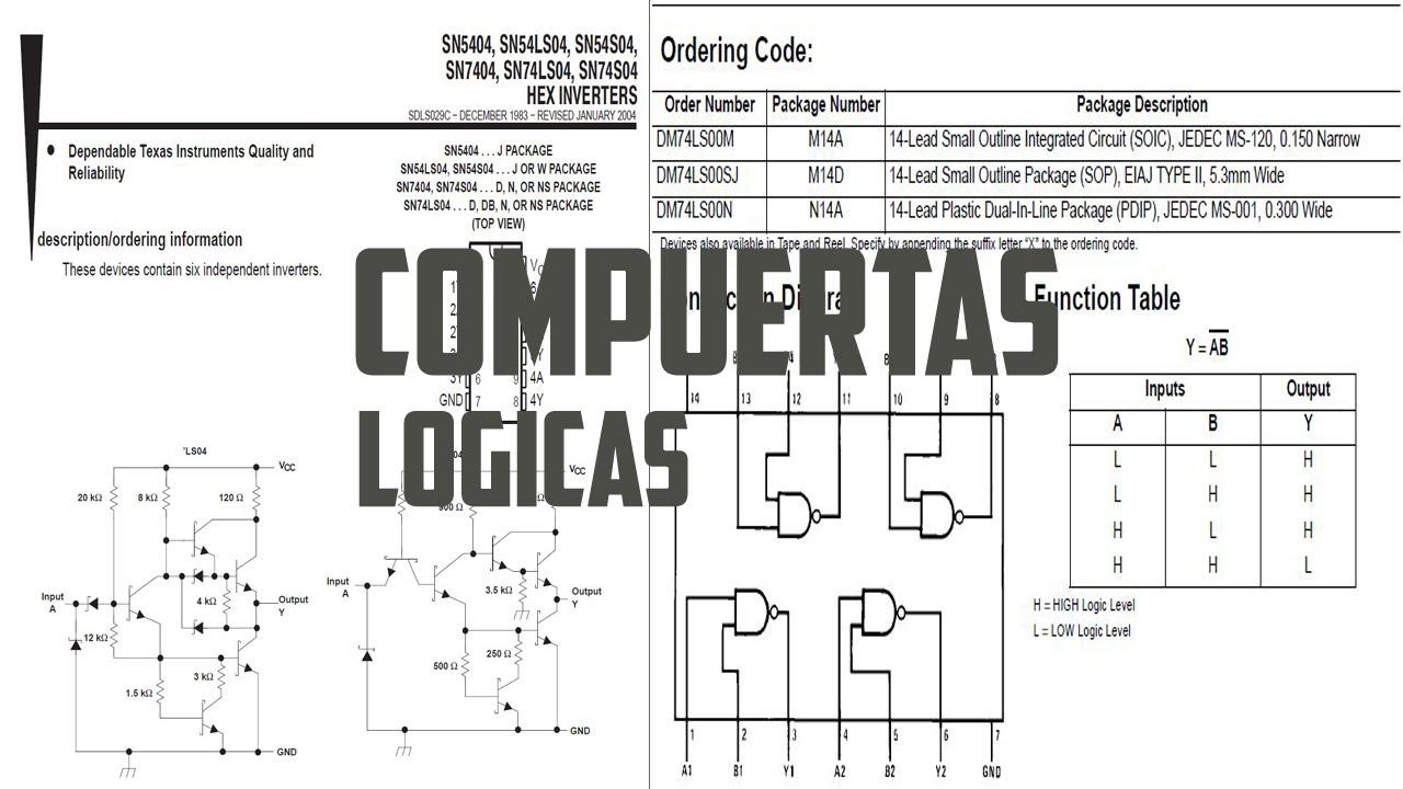Circuito Not : Circuitos integrados 74ls00 y 74ls04 compuertas logicas nand y not