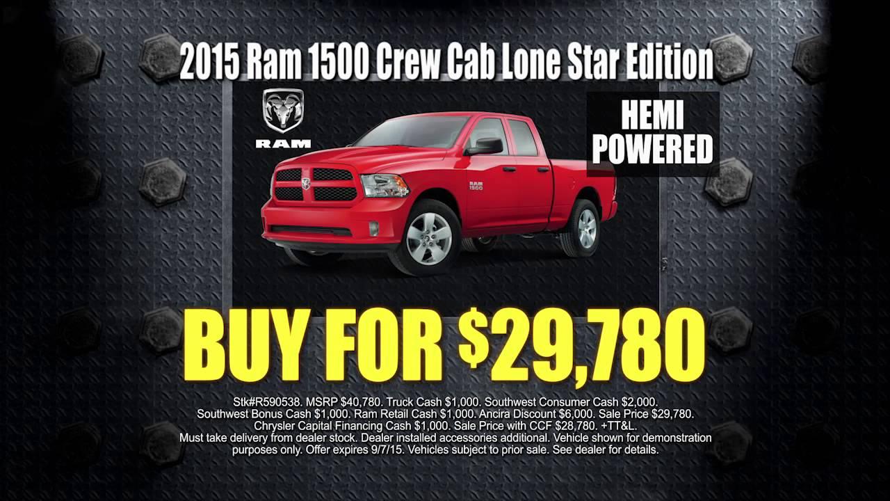 Labor Day Sale At Ancira Chrysler Jeep Dodge RAM
