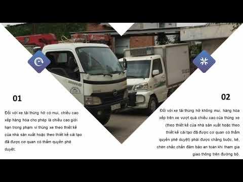 Quy định chiều cao hàng hóa xếp trên xe tải? Mua bán xe tải Xe MuaBanNhanh