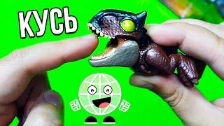 КУСЬ ЗА ПАЛЬЧИК! Мини динозавры JURASSIC WORLD