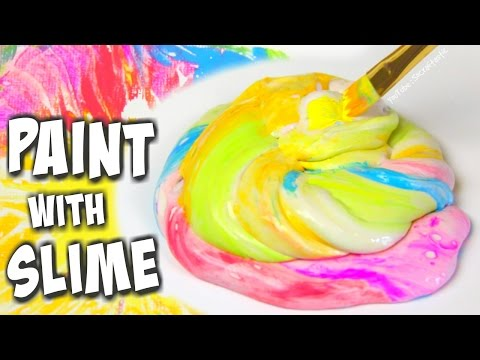 PAINTING WITH SLIME - Art Inspiration - Galaxy, Tie Dye, Water Marble | SoCraftastic