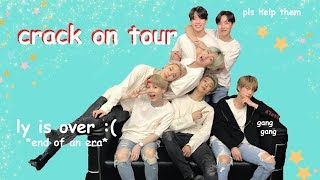 bts being crackheads on tour