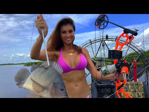 My First TILAPIA | Bikini BOWFISHING