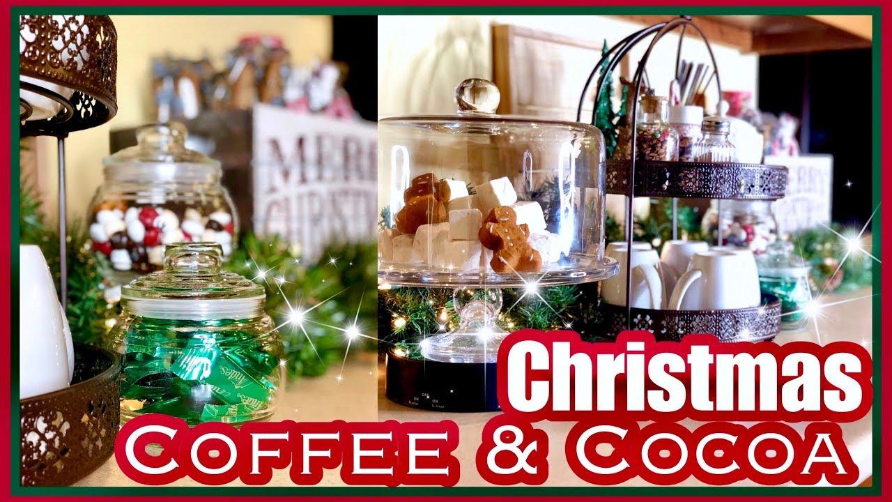 Utube 2020 Christmas Coffee Cicoa Bar Christmas Coffee & Hot Cocoa Bar Station at Home | 25 Days of