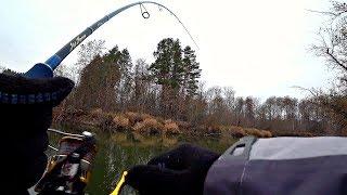 Береговая рыбалка на малой реке!!! Щука на спиннинг осенью!