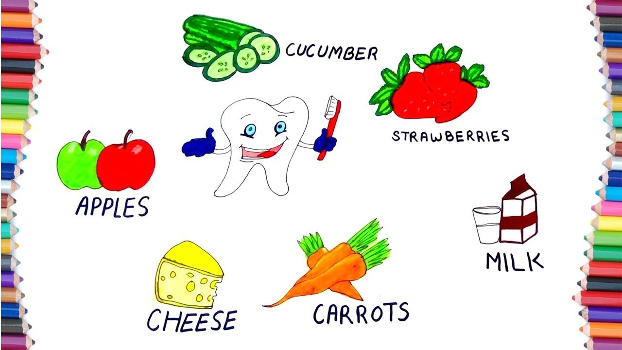 HOW TO DRAW FOOD THAT MAKES OUR