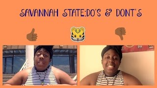 15. SAVANNAH STATE: DO'S and DONT'S